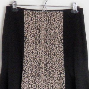 Fit and Flare Skirt Size S Black Women's